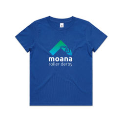Moana Roller Derby Logo - Kids Youth T shirt Thumbnail