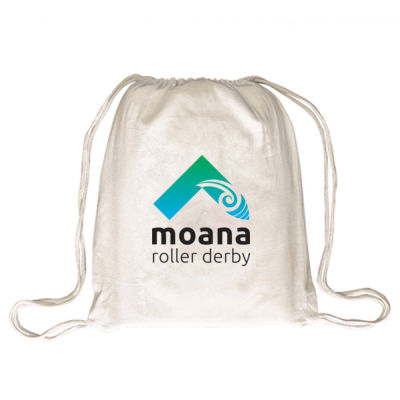 Moana Roller Derby Logo - Draw String Bag Thumbnail